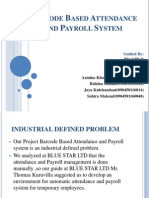 Barcode Based Attendance and Payroll System