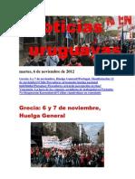 Noticias Uruguayas Martes 6 de Noviembre Del 2012