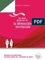 États généraux de la démocratie territoriale - Les éléments de conclusion par Jean-Pierre Bel