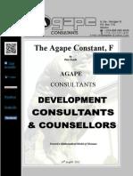 The Agape Constant, F