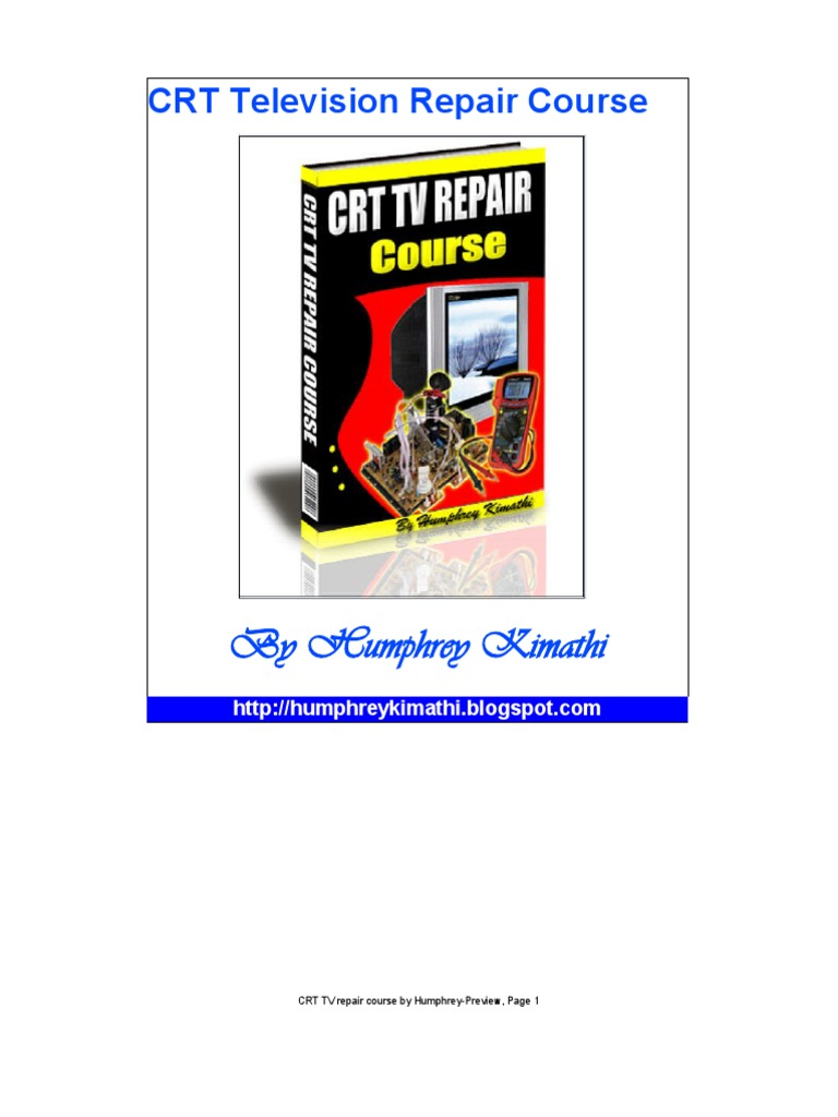 CRT TV Repair Course by Humphrey-Preview   Power Supply
