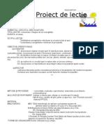 Proiect de Lectie Stiinte Cl.4