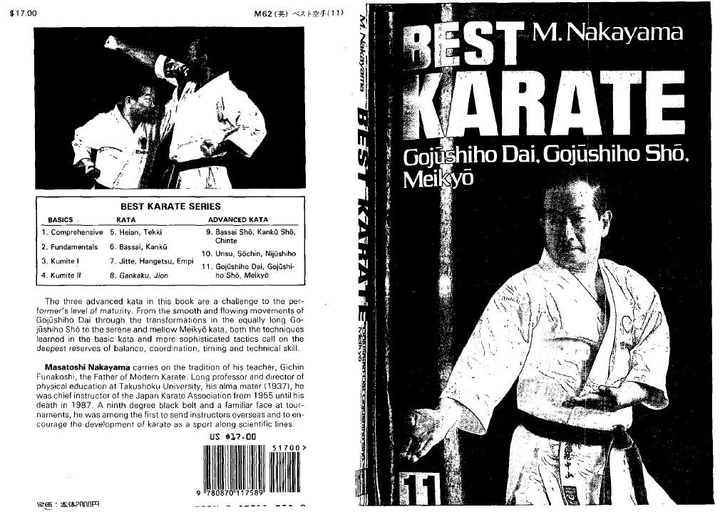 Best Karate Heian. Tekki Vol. 5 Nakayama 1st Edition 1979 Martial Arts Book