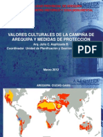 Valores culturales de la campiña de Arequipa y medidas de protección