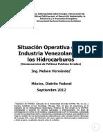 Situacion Operativa de La Industria de Los Hidrocarburos en Venezuela (Mexico)