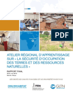 Workshop on Land and Natural Resources Tenure Security