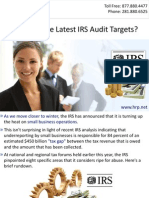 Who Are the Latest IRS Audit Targets?