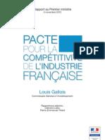 Rapport de Louis Gallois Sur La Competitivite