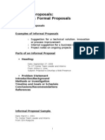 4.2 Sample InformalProposal