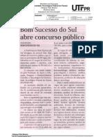 19.03 - Materia - Bom Sucesso Do Sul Abre Concurso Publico - Diario Do Sudoeste Pag.5