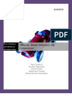 Group Work - Grant Proposal
