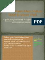 Sumber Hukum Islam, Hukum Taklifi & Hukum