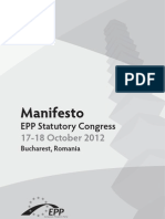 EPP Manifesto, 2012
