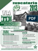 Programas 1a Convocatoria 2013