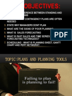 Plans and Planning Tools