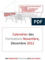Calendrier Des Formations 2012