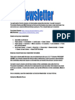 Newsletter Project1