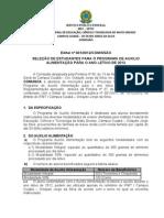 EDITAL+DA+BOLSA+ALIMENTAÇÃO+2012