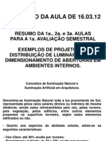 4a. Aula de Conforto Ambiental I - 16.03.12 - Resumo Para a Prova