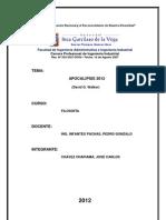 Informe Libro Apocalypsis - David Walker