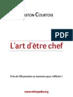 Courtois Lart Detre Chef