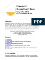 Orange County Value at Risk Case
