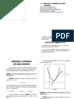 Valores máximos y mínimos de una función