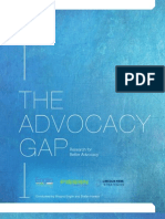 The Advocacy Gap - Research for Better Advocacy