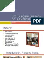 UD3 La forma jurídica de la empresa.