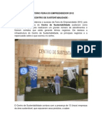RELATÓRIO DOS EXPOSITORES DA SUSTENTABILIDADE NA FEIRA DO EMPREENDEDOR SETEMBRO DE 2012