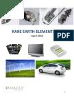 Rare Earth Elements 101 April 2012