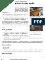 Estación de tratamiento de agua potable - Wikipedia, la enciclopedia libre