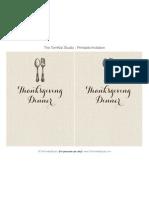 Give Thanks Thanksgiving Dinner Invite - Tomkat Studio