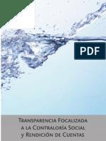 Transparencia focalizada a la Contraloría Social y Rendición de Cuentas