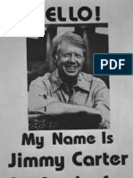 Jimmy Carter Campaign Flyer