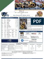 Week10 - Rams at 49ers