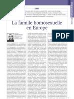 #RLDC- La famille homosexuelle en Europe, par C. Bernard-Xémard