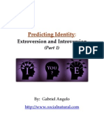 Predicting Identity Extroversion and Introversion Part 1 - Social Natural