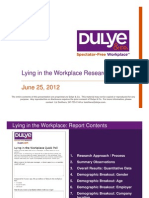Dulye & Co Lying in the Workplace Research Report