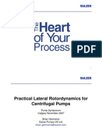 Practical Rotordynamics for Centrifugal Pumps 52pp Sulzer