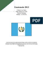 Guatemala 2013 Interest Packet