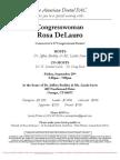 Reception for Rosa DeLauro
