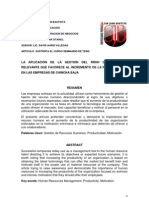 Informe de Proyecto Rrhh