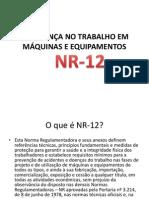 SEGURANÇA NO TRABALHO EM MÁQUINAS E EQUIPAMENTOS