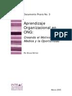 Aprendizaje Organizacional Ongs