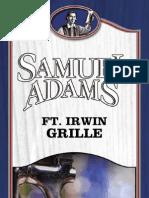 Fort Irwin Samuel Adams Grille Menu