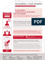 Voter par procuration, c'est simple!