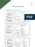 Diagramas y Formulas Para Vigas