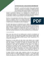 ENSAYO Visión Crítica y Actitud Ética en la selección de la información