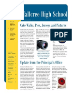 high school newsletter november